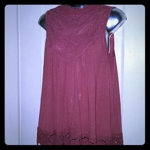 Darling top, dusty rose , never worn